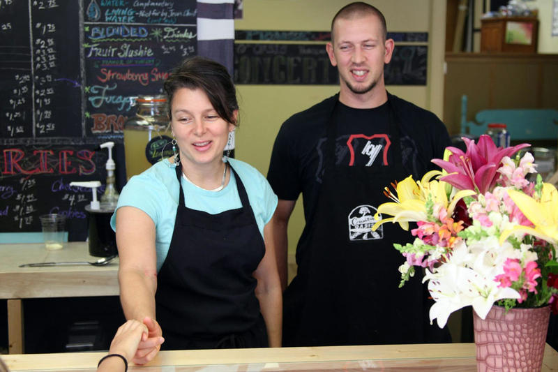 Kristie and Drew Harper opened a small bistro in Brookfield, Mo. Town leaders are courting other businesses in an effort to grow the local economy.