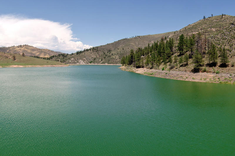 The City of Greeley's Milton Seaman Reservoir, which is fed by the north fork of the Poudre River. Storage proponents agrue that new reservoirs should be built, others expanded, to ensure water availbility in drier times.