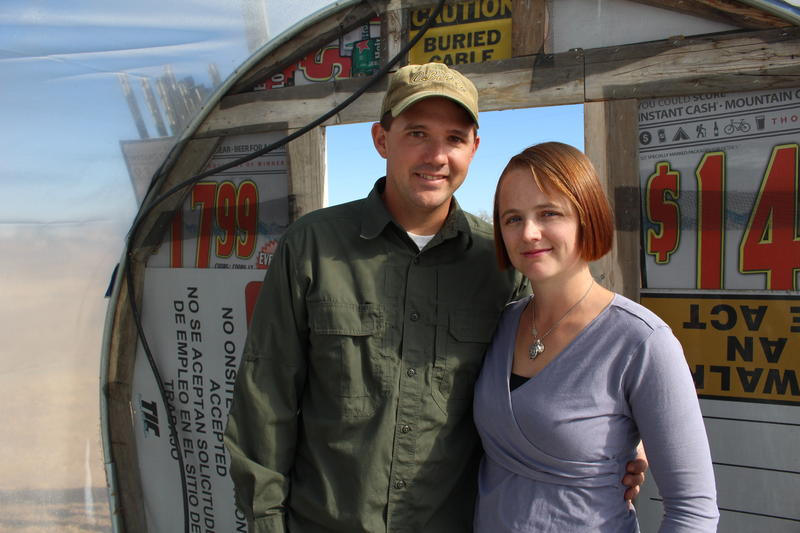 Ben and Leticia Ward have built their farm using decommissioned military gear, like smart bomb shipping containers, and found materials.