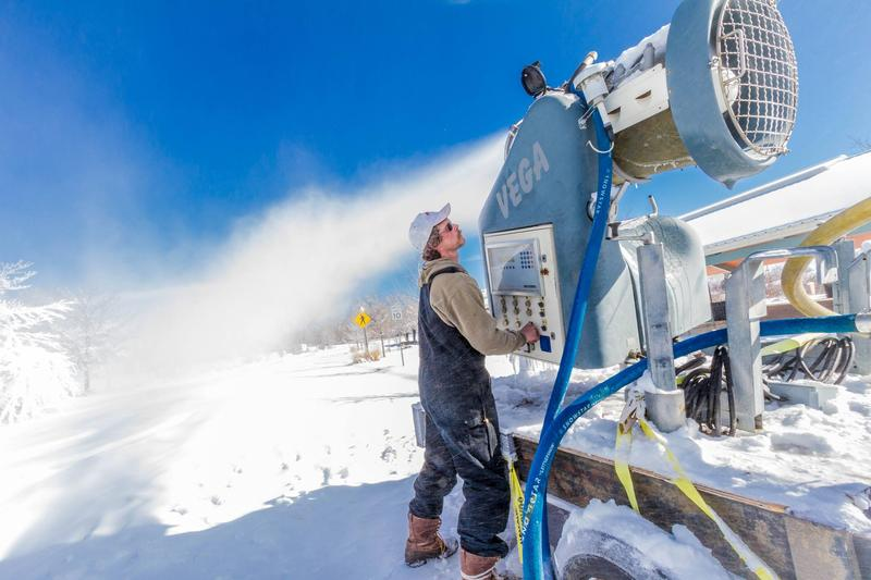 Steven Mercia will make 160 cubic yards of snow utilizing more than 27,000 gallons of water for the Colorado State Snow Sculpting Competition.