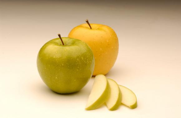 Arctic Apples are genetically engineered to produce less of the enzyme that turns sliced apples brown. The first variety to reach test markets is an engineered Golden Delicious, but a Fuji and a Granny Smith have also been approved by regulatory agencies.