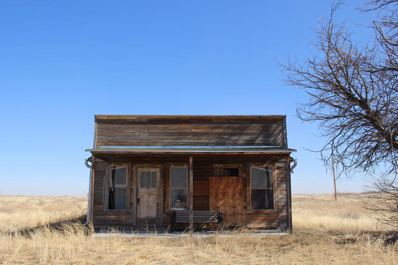 The home of O.T. Jackson, Dearfield, Colorado's founder, sits on the town site in rural Weld County, east of Greeley.