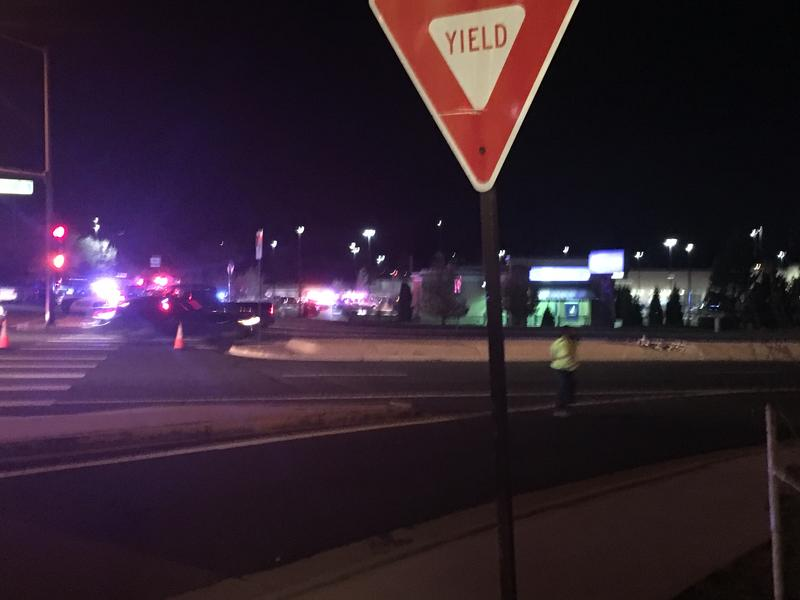 Massive first responder presence at the Walmart on Grand Street in Thornton in the wake of a shooting.