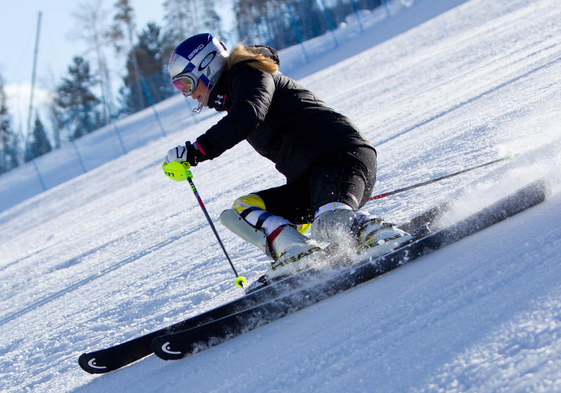 Lindsey Vonn skiing in Vail. Vonn, from Vail, will compete in alpine skiing.