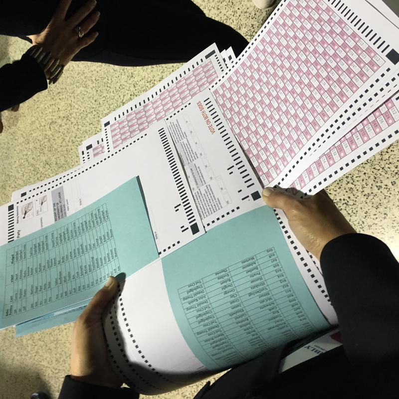 Ballots from the 2016 Republican state assembly.