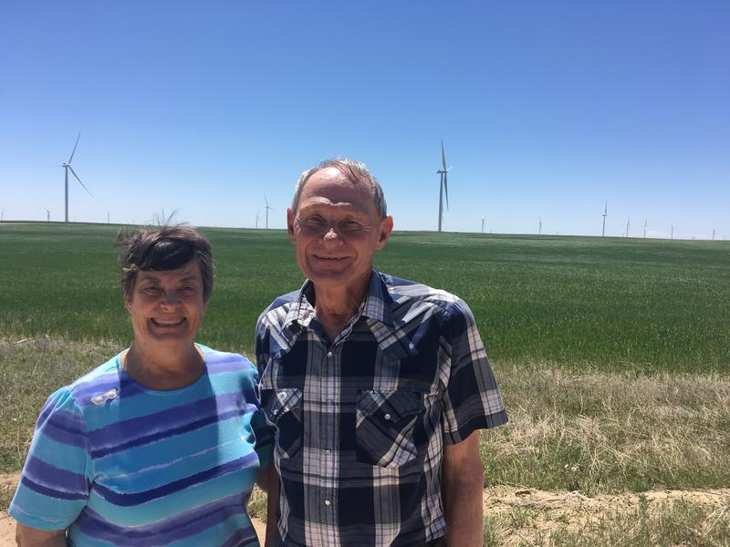 Jan and Virgil Kochis are now hosting a piece of a wind farm on their century-old farm in Matheson, Colo.