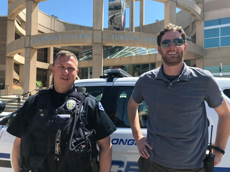 Police officer Tash Petsas and clinician Alan Marschke are part of the new CORE unit created by Longmont's Public Safety Department.