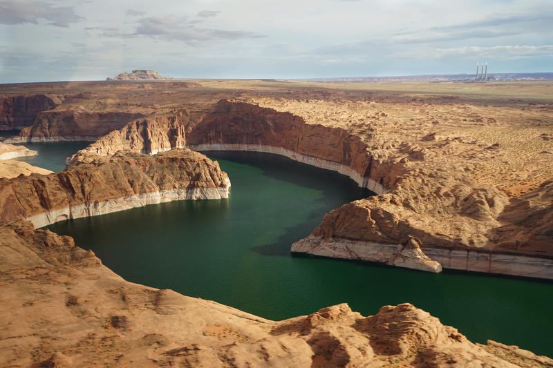 Lake Powell on the Utah, Arizona border serves as the water savings account for Colorado, Utah, New Mexico and Wyoming.