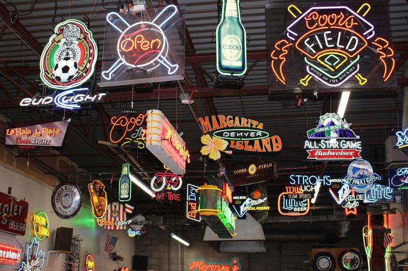 A variety of signs at Morry's Neon Signs