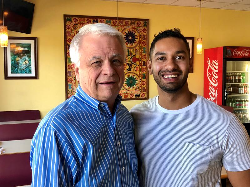 Craig Caldwell and Rashad Khan at Curry N Kebob in Boulder