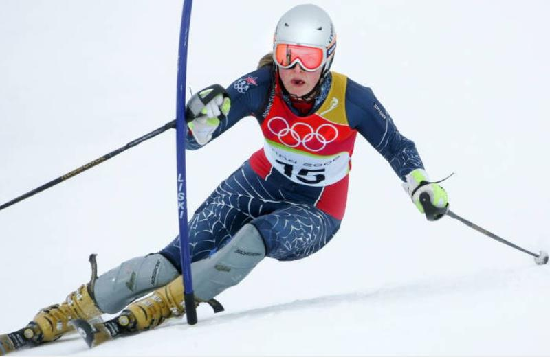 Lindsey Kildow, of the USA, during the 2006 Winter Olympics.