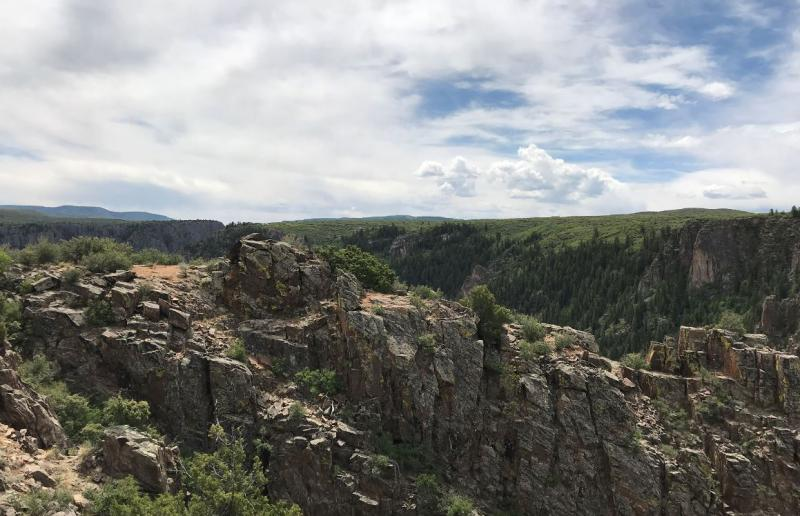 People come to Black Canyon of the Gunnison National Park for breathtaking views.