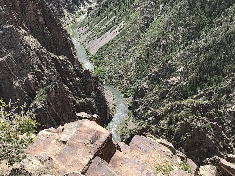A view to a river at Black Canyon of the Gunnison National Park.