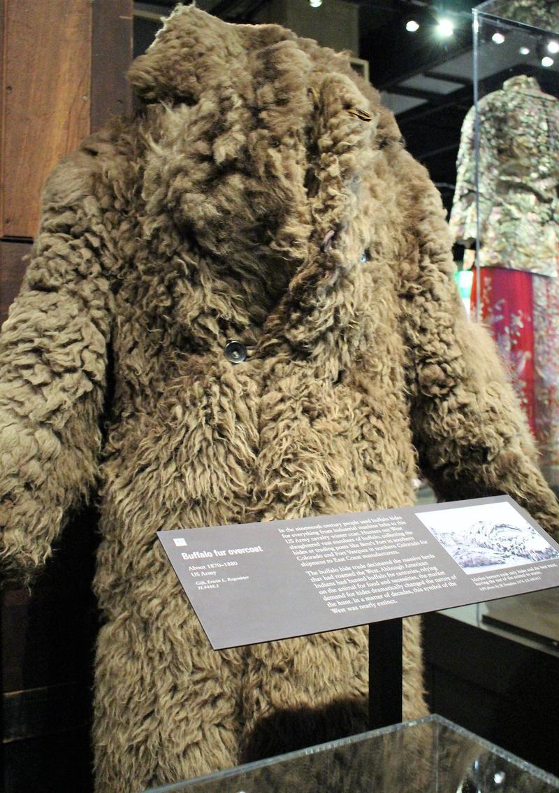 An Army buffalo fur overcoat