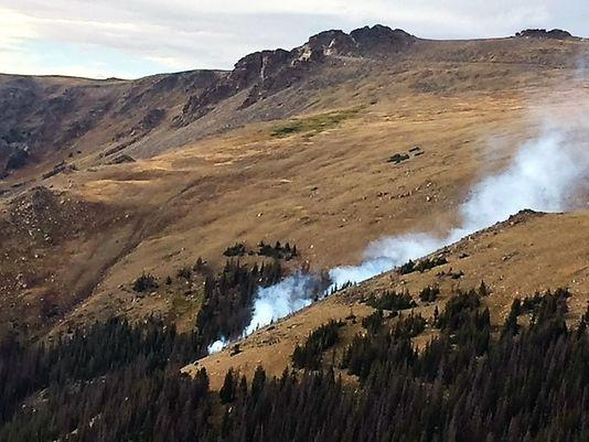 A photo of the Forest Canyon Fire, taken Aug. 31.