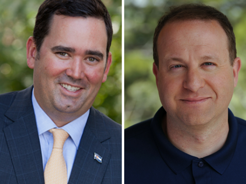Republican candidate for governor Walker Stapleton and Democratic candidate Jared Polis.