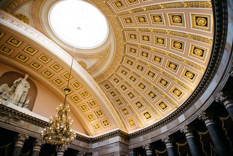 Interior of the United States Capitol building in Washington D.C.