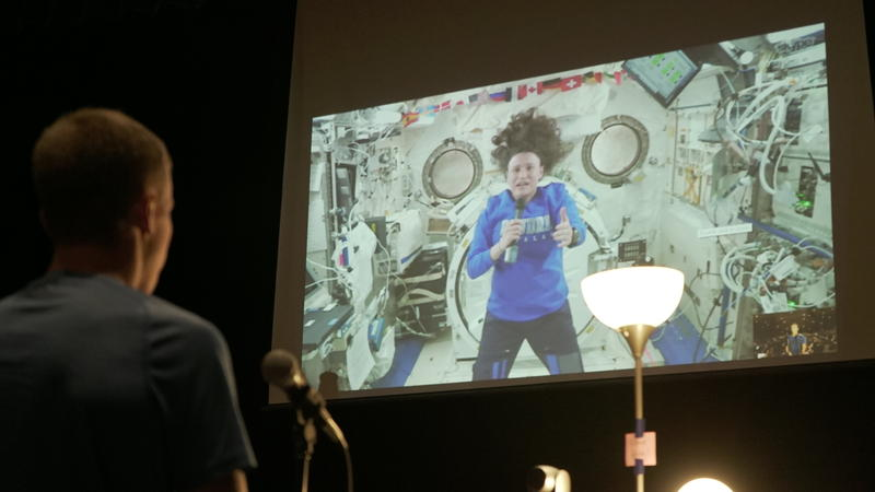 Astronaut Dr. Serena Auñón-Chancellor spoke to Poudre High School students from the International Space Station while orbiting the earth.
