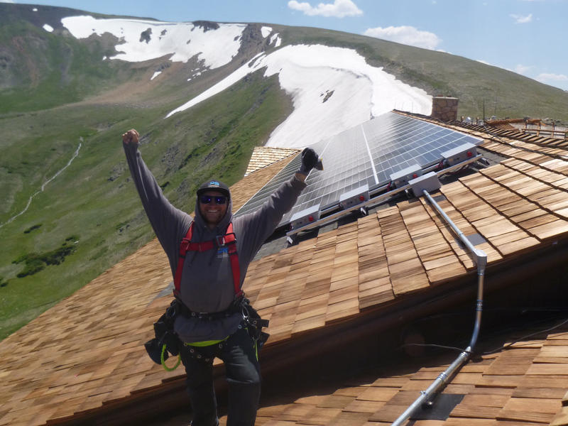 Logan Tierney is an installer for Independent Power Systems (IPS) of Boulder, CO