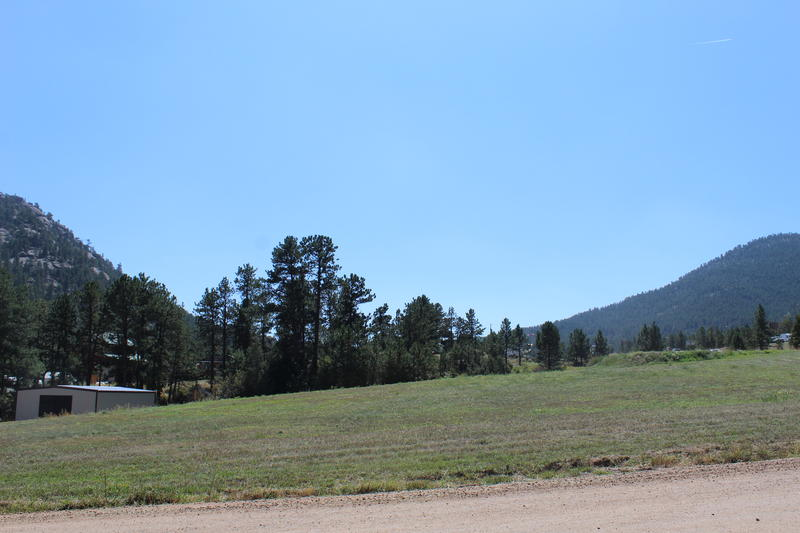 The field where the Chinook landed to evacuate residents