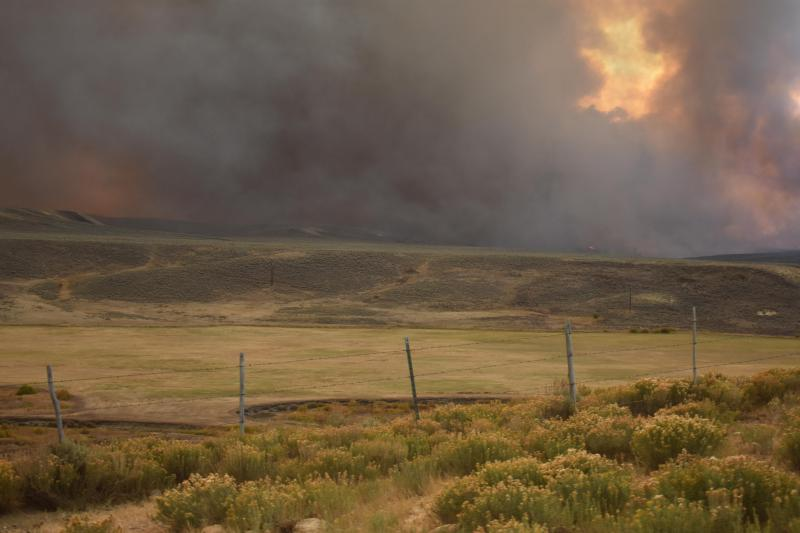 Burnout operations at the Silver Creek Fire, photographed Sept. 24. Winter weather moving through Colorado is expected to help wildfires still burning around the state.