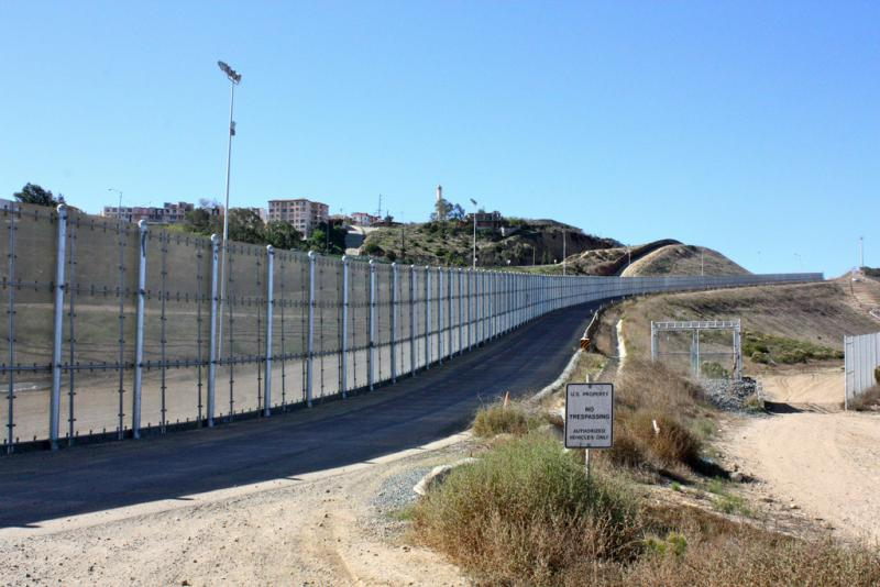 The U.S-Mexico border in San Diego.