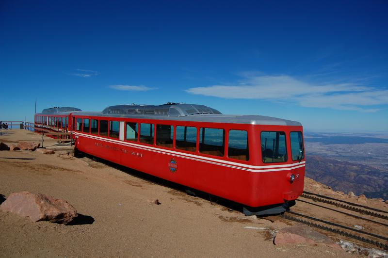 The Pike's Peak Cog Railway stopped running in March of 2018.