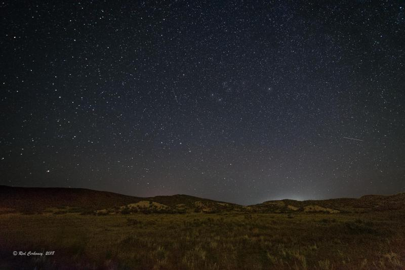 View of the night sky from Red Mountain Open Space in Wellington, the potential site of northern Colorado's first official night sky park.
