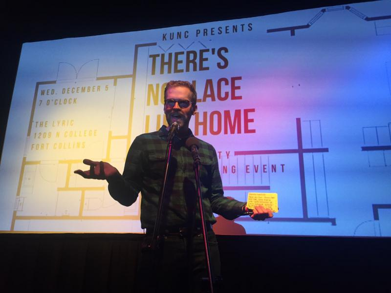 """Luke Runyon hosts """"There's No Place Like Home: A Community Storytelling Event"""" at The Lyric in Fort Collins on December 5th."""