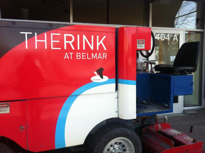 An ice resurfacer for the 'Rink at Belmar.'