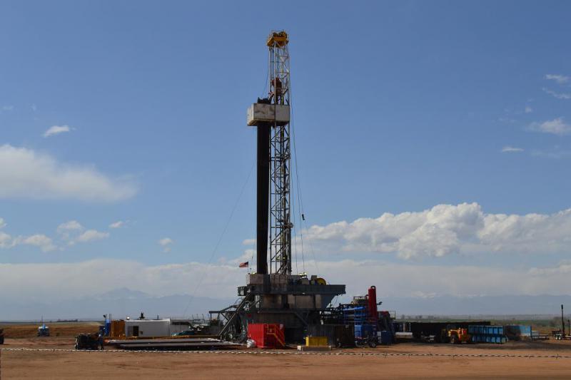 An oil rig in Colorado.