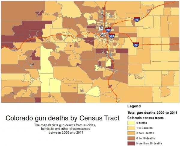 Gun Deaths by Census Tract
