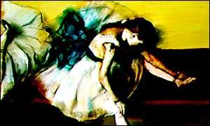 This work sold at auction in 1999 for $28 million, a record for Degas works.