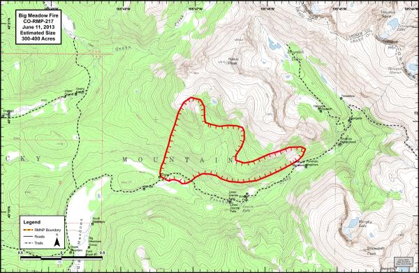 Big Meadows Perimeter Fire Map, June 11 2013