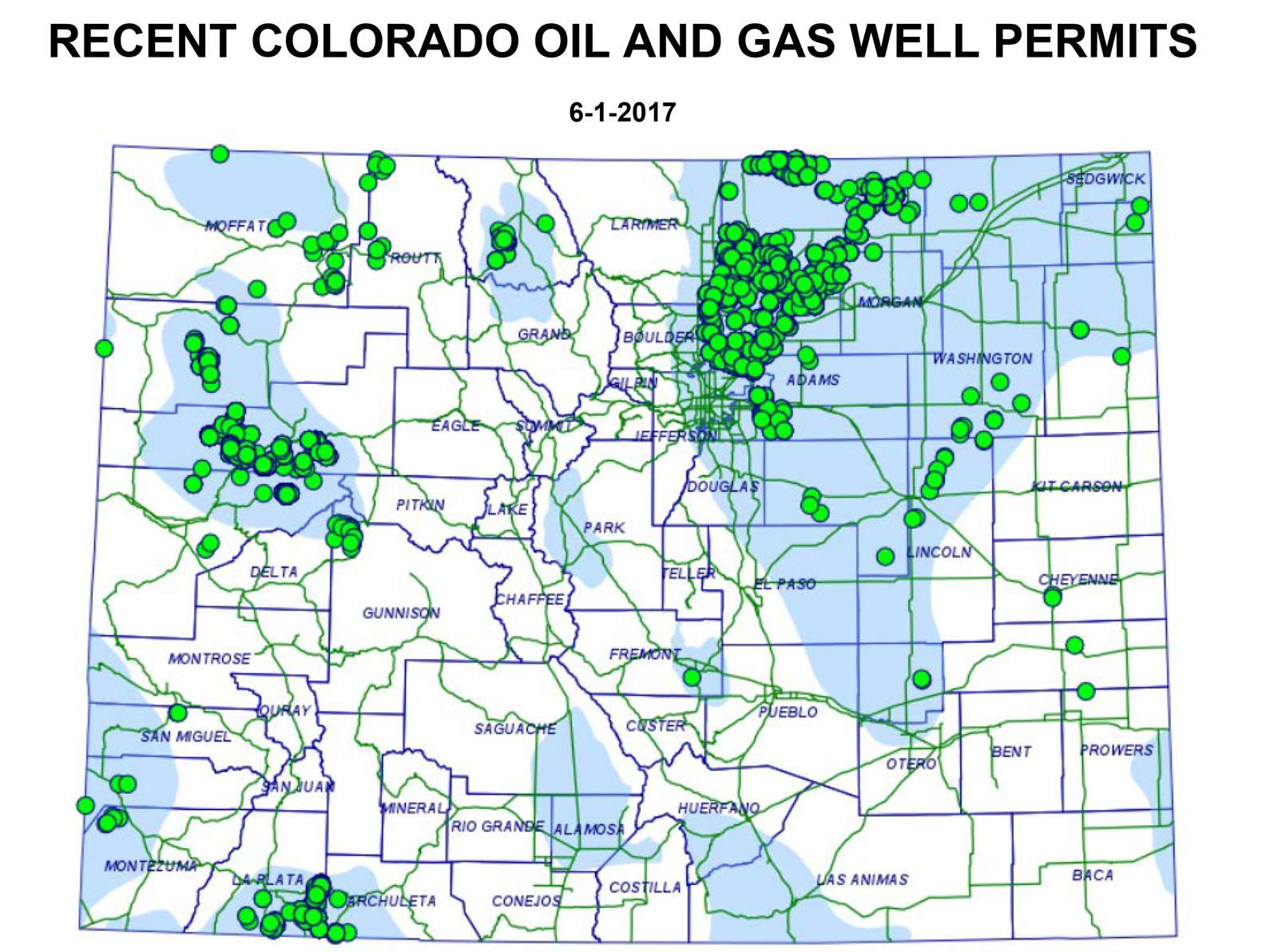 After Firestone Explosion Residents Worry About Home Values Kunc Explosive Welding Diagram Map Showing Recent Oil And Gas Well Permits 1565 Have Been Approved So Far This Year 1043 In Weld County Alone