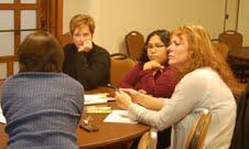 Educators gather for a workshop at the La Cosecha conference.