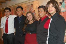 Manny Bernal (far left) and Meribel Dominguez (center) with other El Paso students at the conference