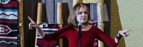Gloria Steinem spoke at JAWS (Journalism and Women Symposium)  in Albuquerque