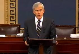 Still image from US Senator Jeff Bingaman's farewell speech to the Senate, December 13th, 2012.