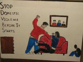 Navajo child's artwork from vigil exhibit
