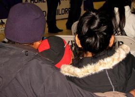 Navajo family attending the Shiprock vigil