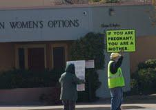Protesters at the Southwestern Women's Options Clinic