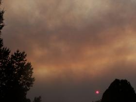 Sunset in Albuquerque during the Whitewater-Baldy Complex fire, June 2012.
