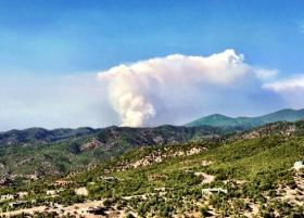 The Jaroso Fire on June 10, 2013.