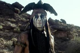 "Johnny Depp plays Tonto in Disney's ""The Lone Ranger."""