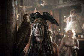 "Johnny Depp in ""The Lone Ranger."""