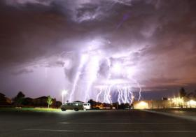 Lightning strikes in Albuquerque.