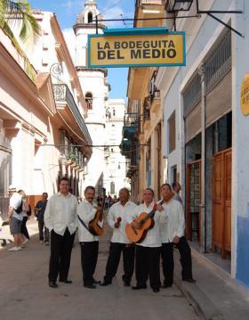 TradiSon in front of the famous La Bodeguita de la Medio, Havana, Cuba.