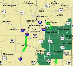 Dark Green = Flash Flood Watch, Bright Green = Flood Warning.