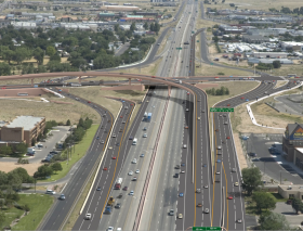 A computer simulation of the completed interchange.